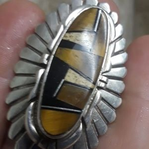 Native American Jewelry - Vtg Navajo Sterling Ring
